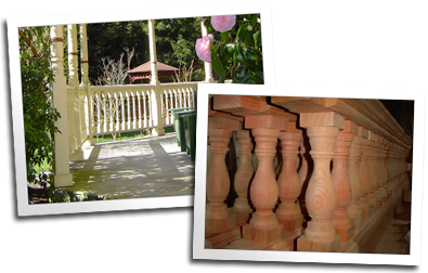 Custom balustrade for home in Cutten and balustrades for a widow's walk in Napa