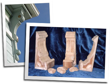 Corbels with rosettes