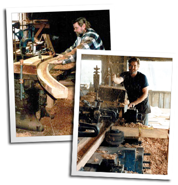 Master carpenter Eric Hollenbeck manufactures curved and straight gutter at the Blue Ox Millworks