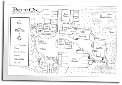 Map of the Blue Ox Millworks