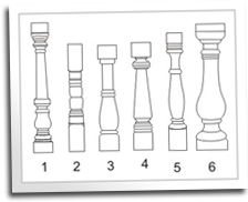 Turned Baluster Patterns