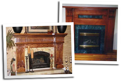 Two custom fireplaces by Blue Ox Millworks