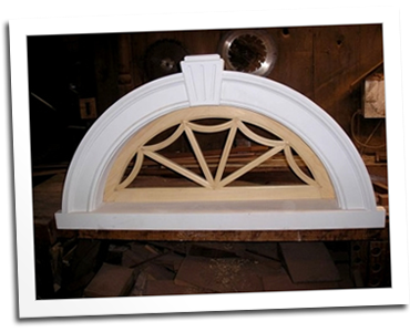 Fixed true divided light arched window