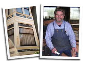 Classic Double Hung Window (Left) Eric Hollenbeck, Master Craftsman (Right)